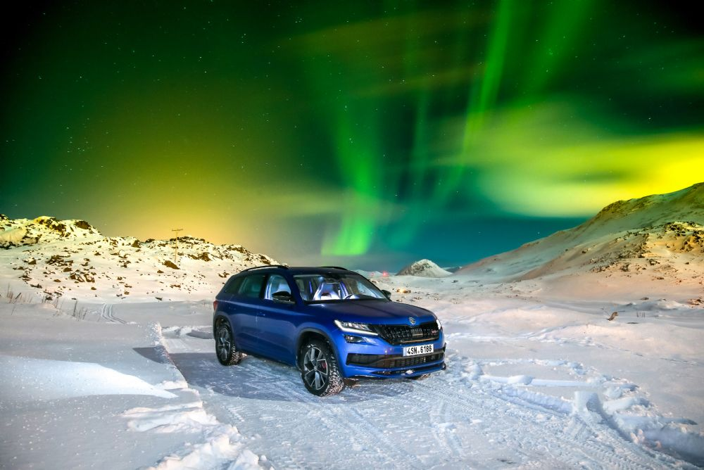 ŠKODA KODIAQ RS does Arctic Circle Ice Challenge
