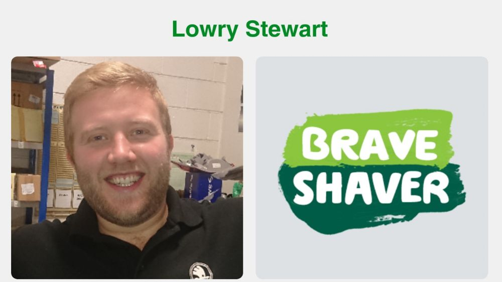 Lowry Stewart Braves the Shave for MacMillan Cancer Support