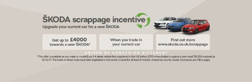 SKODA Launch New Scrappage Incentive for 2017