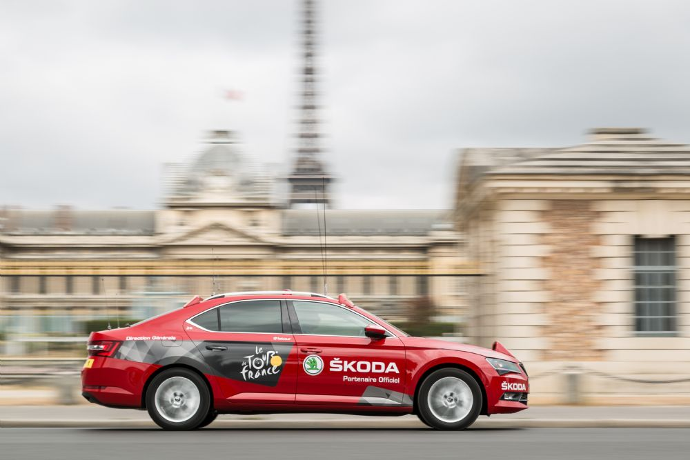 SKODA is the Official Partner of the TOUR DE FRANCE for the 15th Time