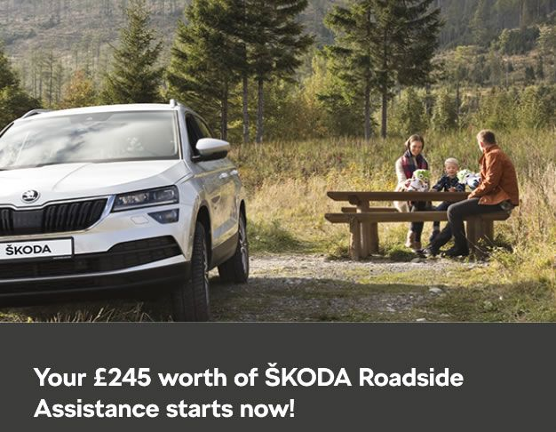 Complimentary ŠKODA Roadside Assistance worth £245.00.