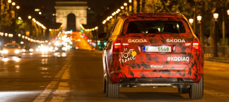 ŠKODA KODIAQ Supervising Final Stage at Tour de France