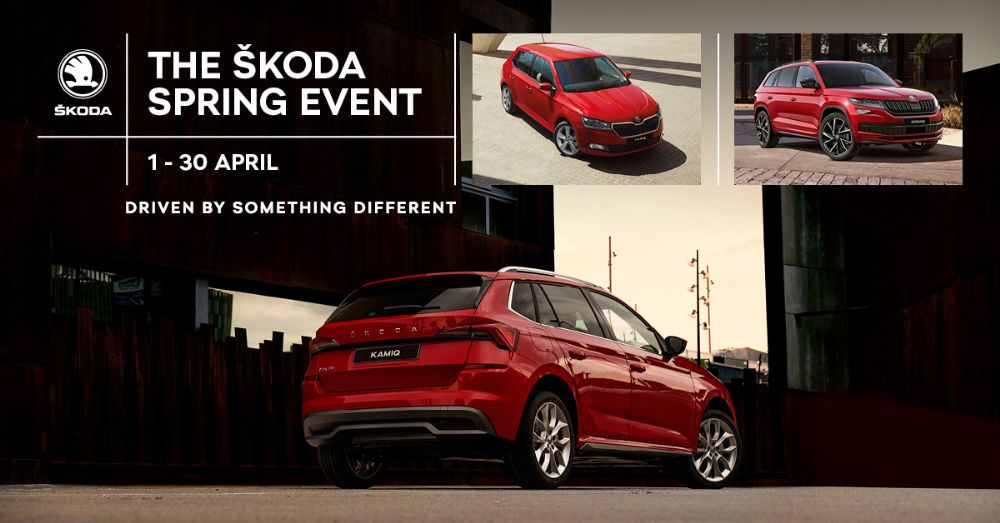 The SKODA  0% APR SPRING EVENT - 1st - 30th April