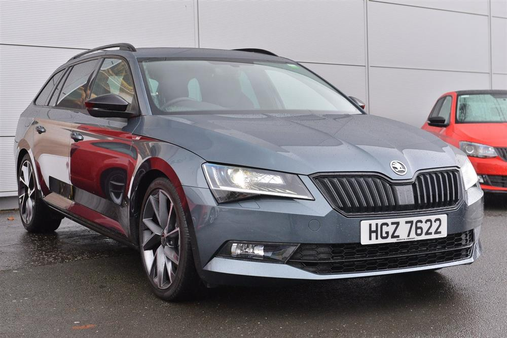 skoda superb estate b8 2 0 tdi sportline for sale at. Black Bedroom Furniture Sets. Home Design Ideas